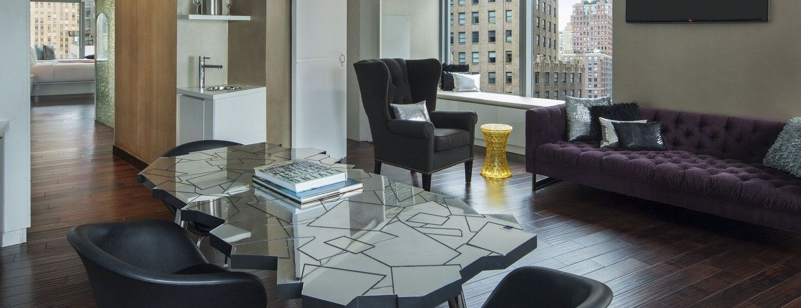 Extreme Wow Suite Living Space | W New York - Downtown